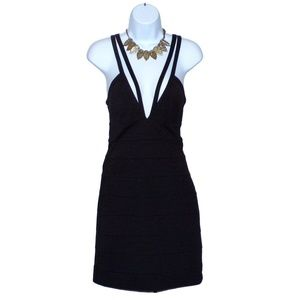 BB Dakota Plunging Neckline Bodycon Dress